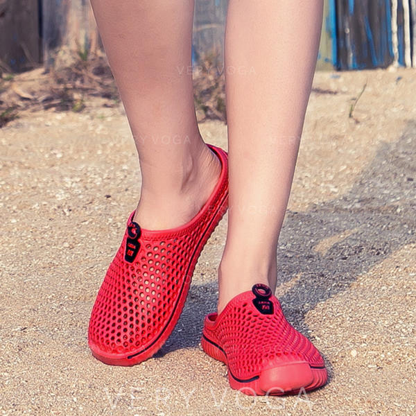 Women's Mesh Flat Heel Slippers With Hollow-out shoes