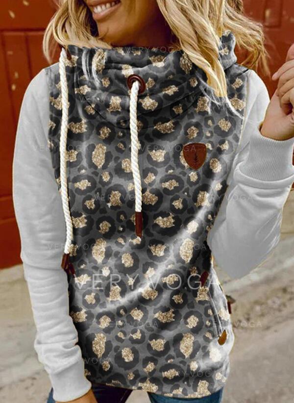 λεοπάρδαλη Μακρυμάνικο Bluza z kapturem