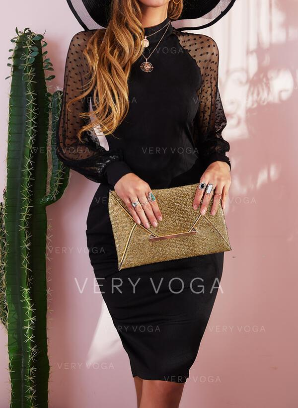 Jednolita Długie rękawy Bodycon Ołówkowa Mała czarna/Przyjęcie/Elegancki Midi Sukienki