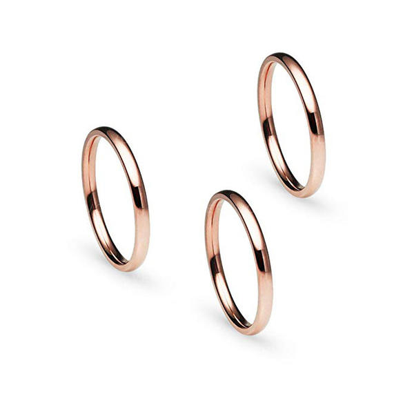 Utsøkt Titanium Steel Kvinner Ringer