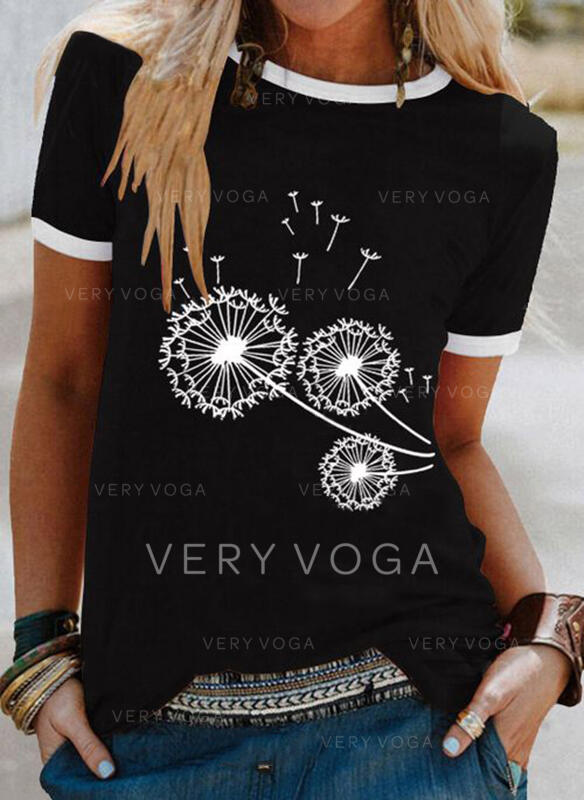 Dandelion Round Neck Short Sleeves T-shirts