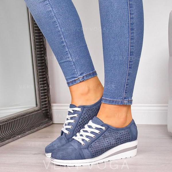 Kvinner PU Avslappet med Blondér sko