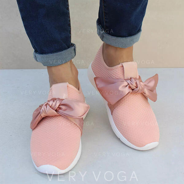 Women's Cloth Mesh Casual Outdoor With Bowknot shoes