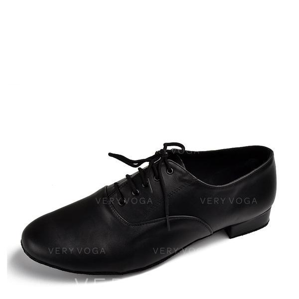 Men S Real Leather Heels Latin Ballroom Dance Shoes