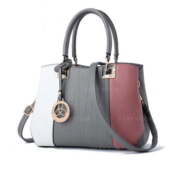 In de mode/Woon-werkverkeer/Splice kleur Tote tassen/Crossbody Tassen