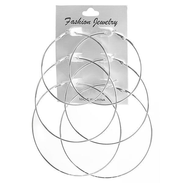Fashionable Alloy Earrings (Set of 3)