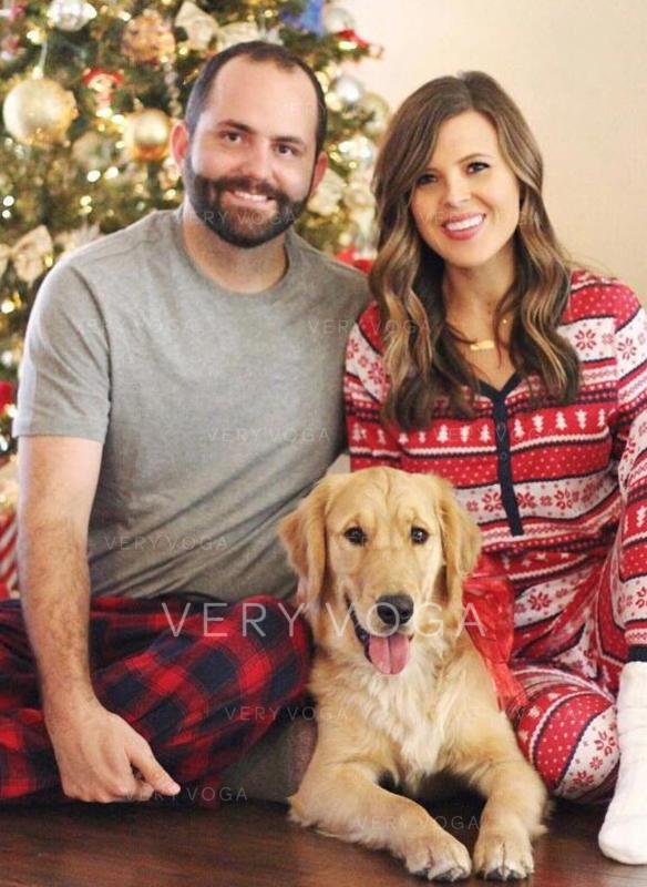 Streep Voor Gezinnen Kerst Pyjamas