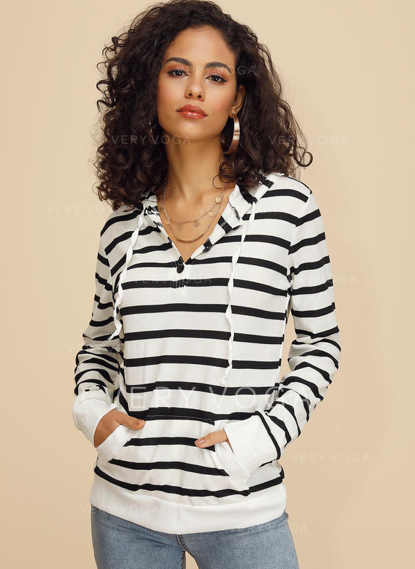 Striped Long Sleeves Button Up Casual Blouses