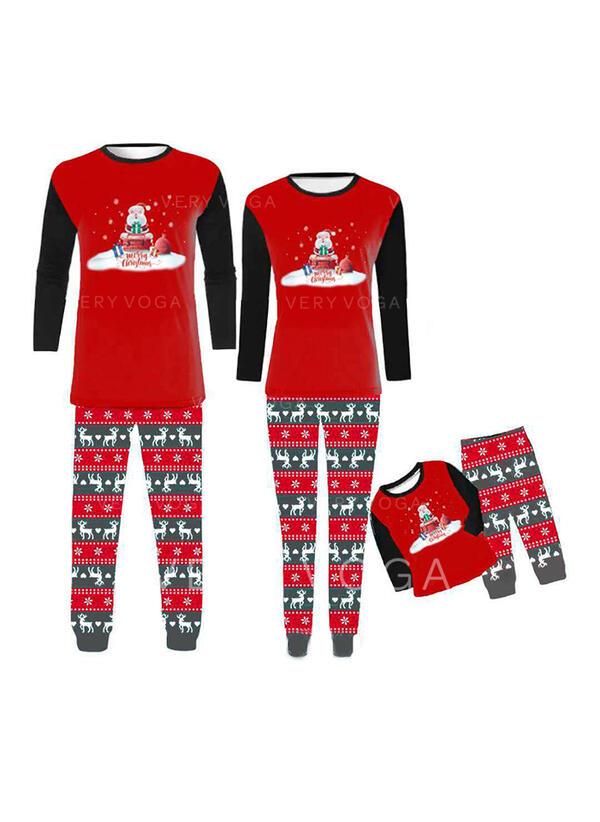 De Kerstman Rendier Letter Voor Gezinnen Kerst Pyjamas