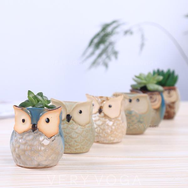 Novelty Ceramic Owl Table Vases