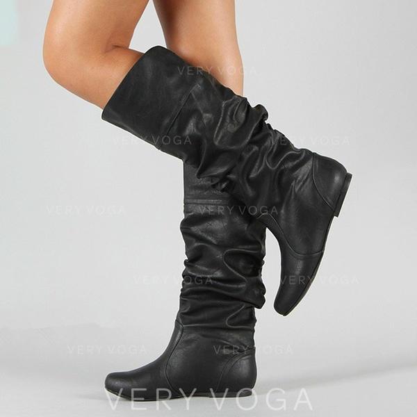 sito affidabile f0335 8e478 [€ 37.11] Donna Similpelle Senza tacco Stivali Stivali al ginocchio con  Altrui scarpe - VeryVoga