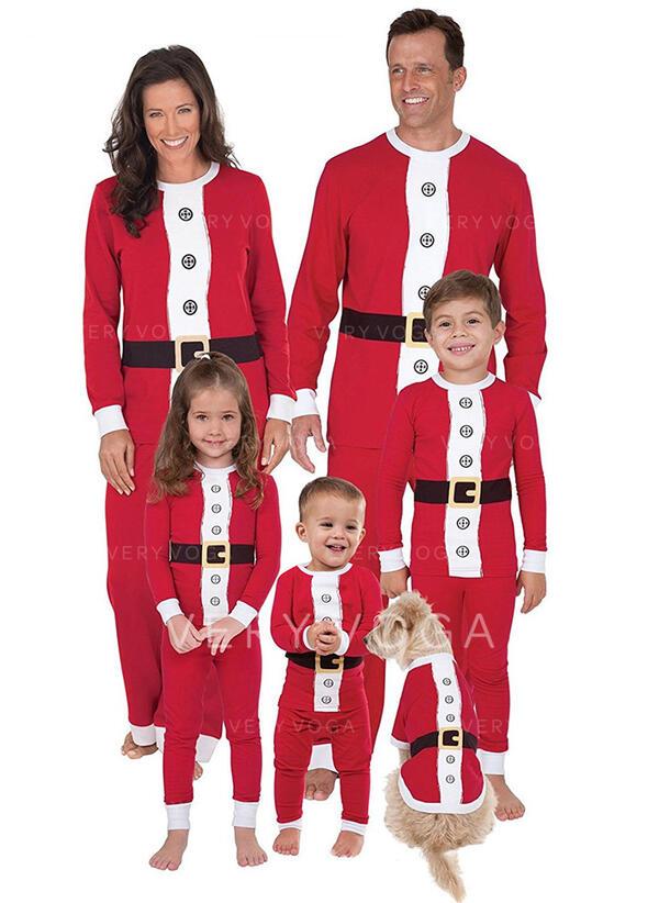Kolor-Block Rodzinne Dopasowanie Świąteczne piżamy Piżama