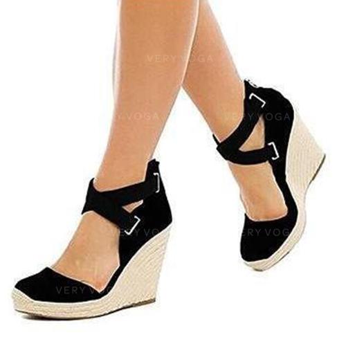 nouveau produit 25438 9c449 [€ 26.64] Femmes PU Talon compensé Compensée avec Autres chaussures -  VeryVoga