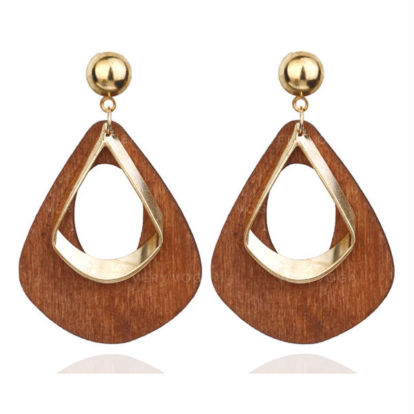Stylish Alloy Wood Women's Earrings