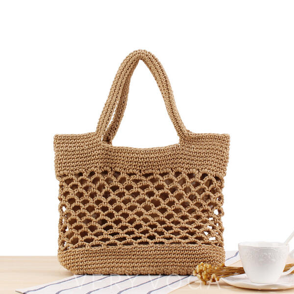Unique/Hollow Polyester Shoulder Bags/Beach Bags/Bucket Bags