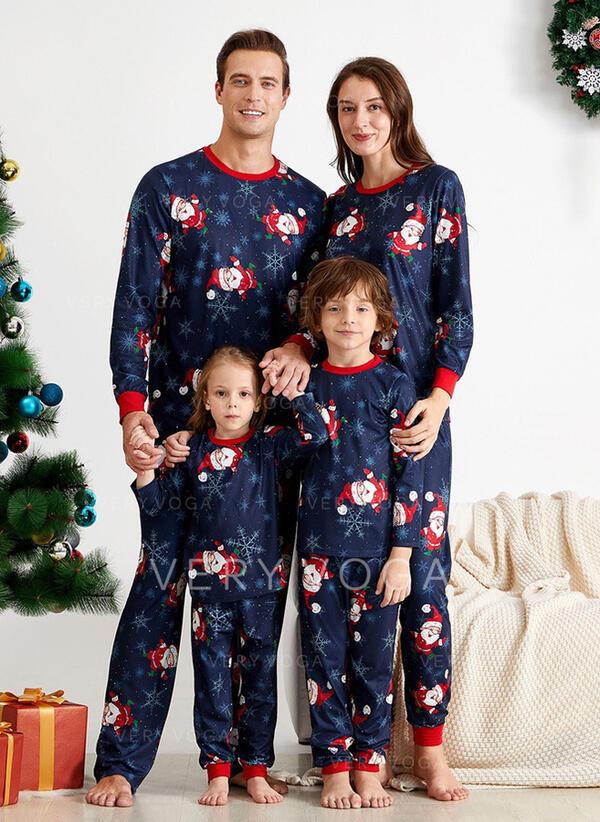 Санта Мультфільм Для сім'ї Різдвяні піжами