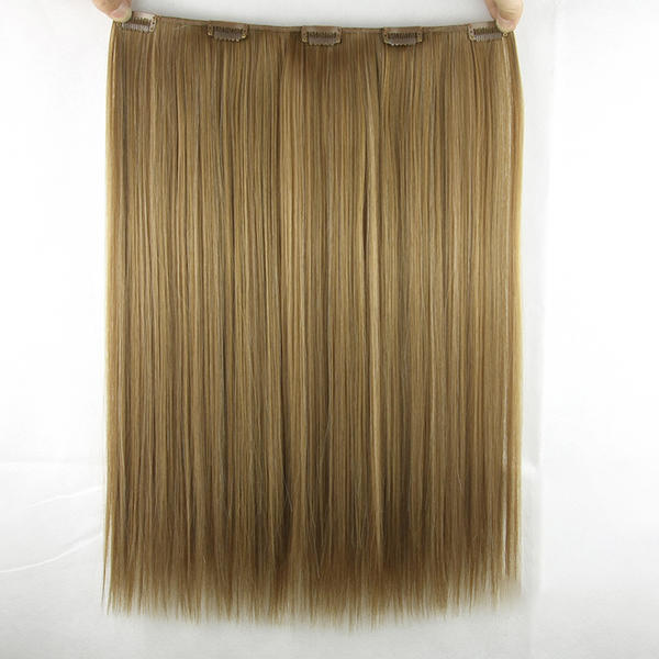 Straight Synthetic Hair Clip In Hair Extensions Sold In A Single