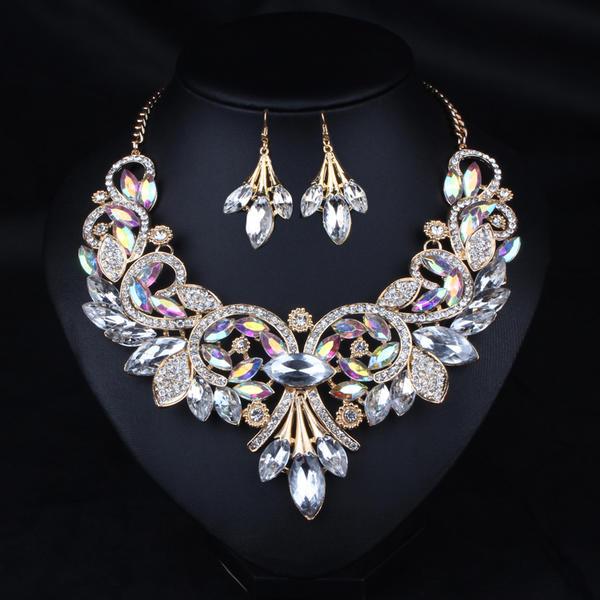 Piękny Stop Cyrkonie Żywica Z Stras/ Krysztal Górski Ladies ' Zestawy biżuterii