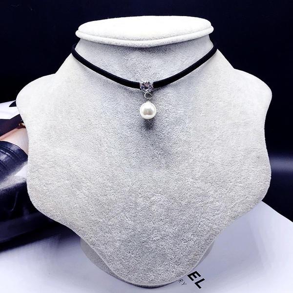 Elegante Aleación con Perlas de imitación Señoras' Collar de la manera