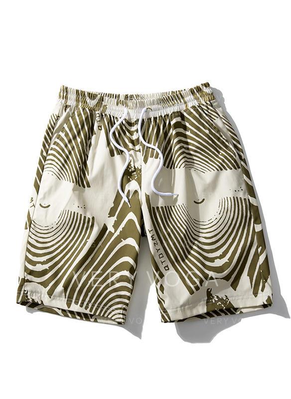 Men's Stripe Quick Dry Board Shorts