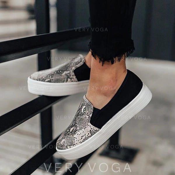 Dámské PU Neformální S Zviřecí Potisk obuv