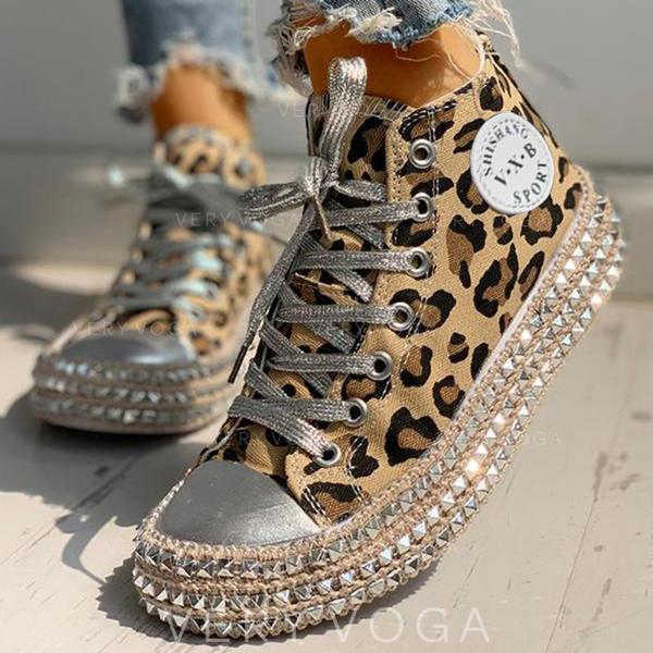 Vrouwen Jean Casual Outdoor met Dier Afdrukken Vastrijgen schoenen