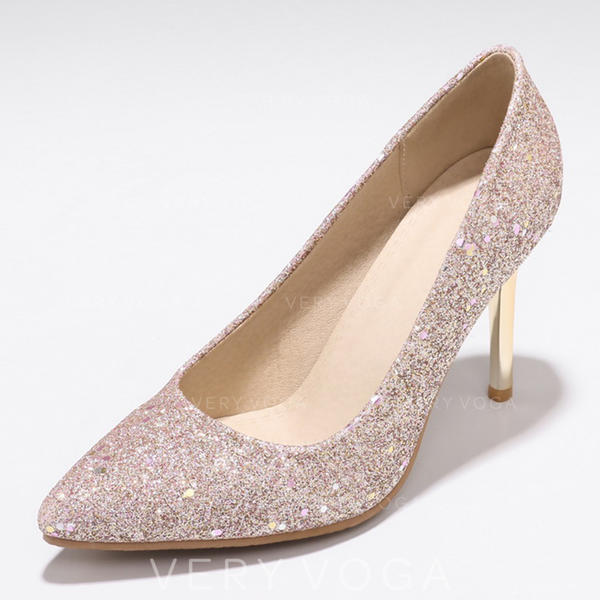 Women's PU Stiletto Heel Pumps With Sequin shoes
