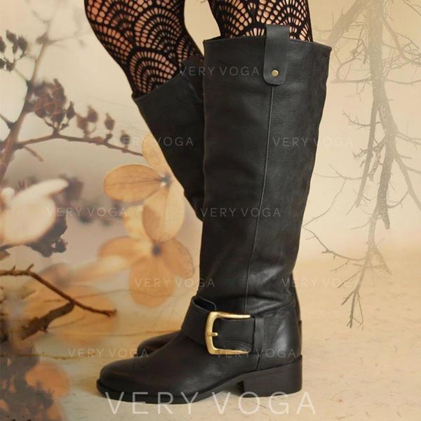 Жіночі ПУ Квадратні підбори Чоботи середньої довжини з Пряжка Блискавка взуття