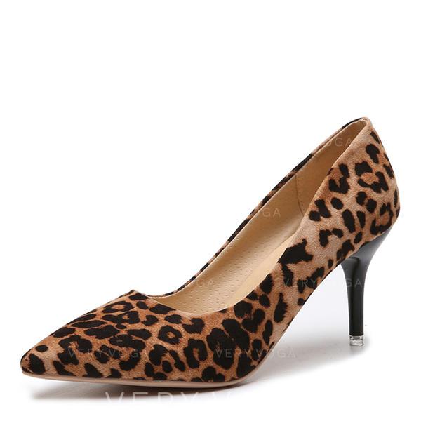 Vrouwen Suede Stiletto Heel Pumps met Effen kleur schoenen