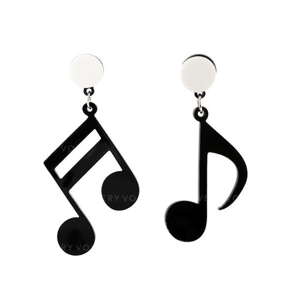 Chic Alloy Acrylic Women's Earrings