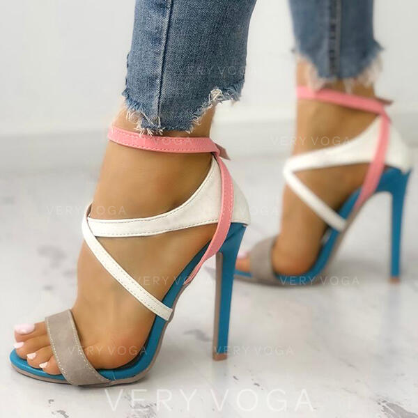 Női PU Tűsarok Szandál Peep Toe cipő