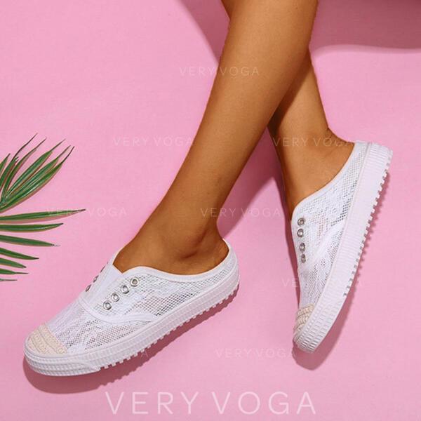 Dla kobiet Material Tkanina mesh Nieformalny Z Koronka obuwie