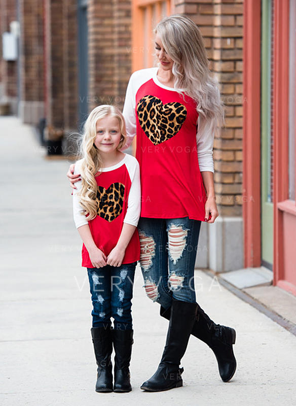 Mommy and Me Print Matching T-Shirts