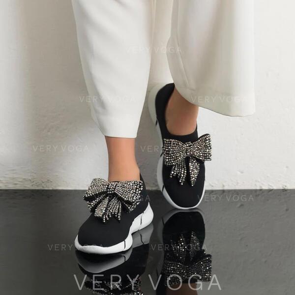 Mulheres Tecido Casual Outdoor com Bowknot sapatos