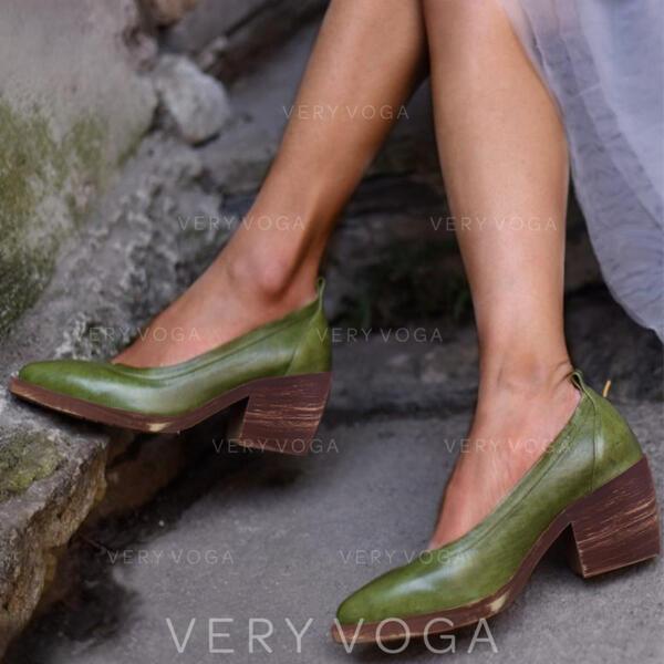 Жіночі Шкіра Квадратні підбори Насоси взуття