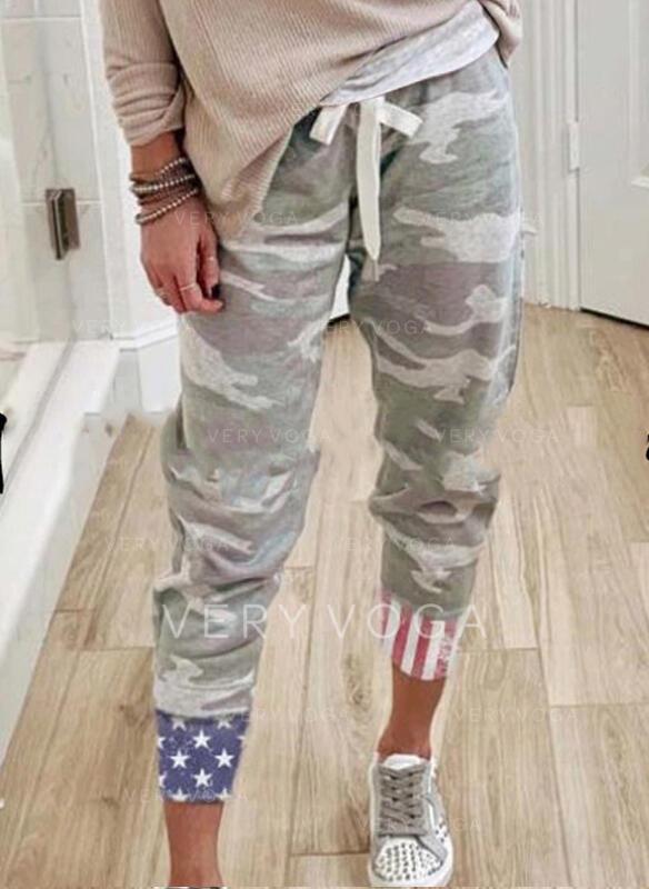 Camouflage Cordon Décontractée Sportif Pantalon Pantalons de détente