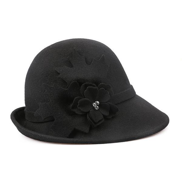 Dames Simple/Gentil/Qualité/Style Vintage Coton avec Une fleur Disquettes Chapeau