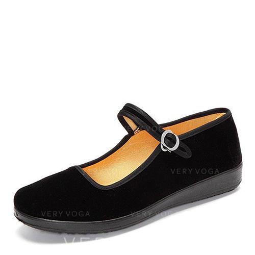 Vrouwen Stof Flat Heel Flats met Gesp schoenen