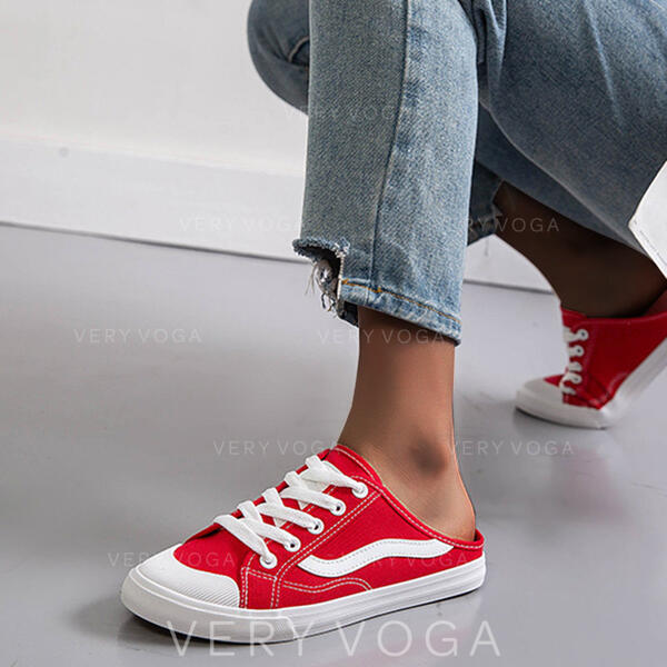 De mujer Lona Casual con Cordones zapatos
