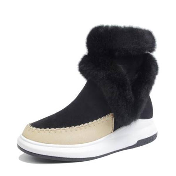 [US$ 36.99] Frauen Veloursleder PU Keil Absatz Stiefel Stiefel Wadenlang Schneestiefel mit Reißverschluss Schuhe VeryVoga