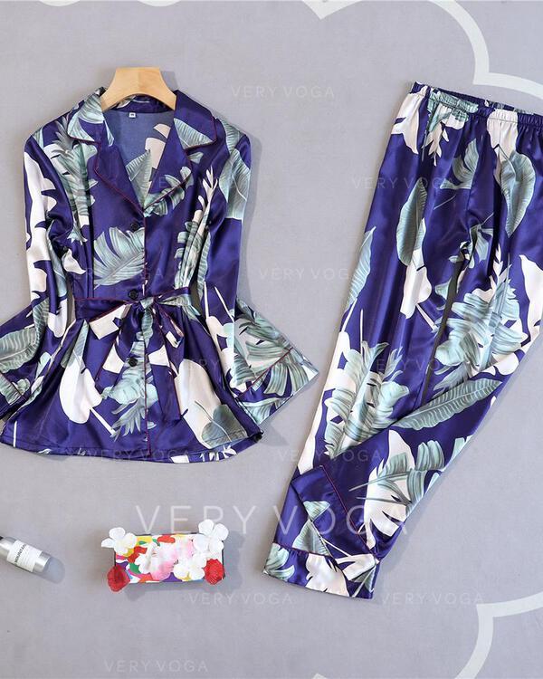 Polyester Floral Pyjama Set
