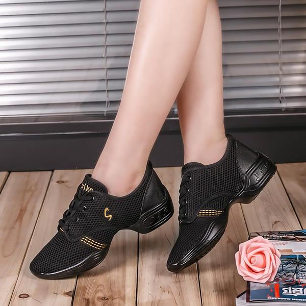 Naisten Tanssi sneakers Tanssi sneakers Kangas jossa Nauhakenkä Tanssi sneakers