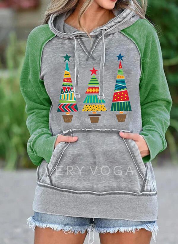印刷 長袖 クリスマス・スウェットシャツ