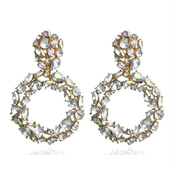 Exquisite Alloy Rhinestones Women's Earrings