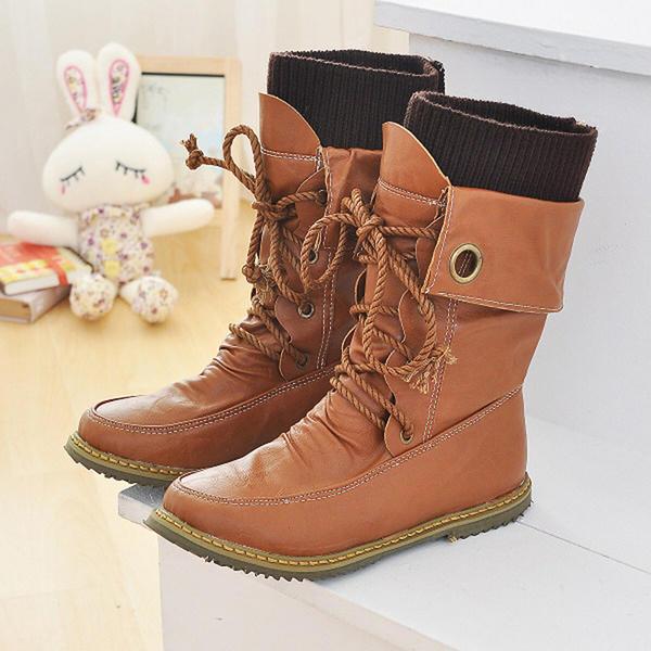 Talon plat Chaussures plates Bout fermé Bottes Bottes hautes Bottes mi-mollets Bottes neige Martin bottes Bottes cavalières avec Dentelle chaussures