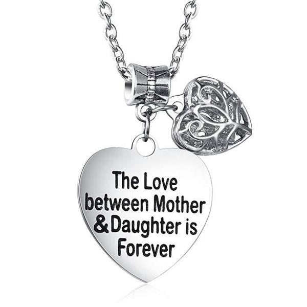 """""""The Love Between"""" Alloy Mother Daughter Necklace"""
