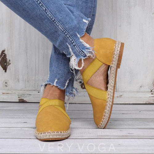 Women's Fabric Flat Heel Flats With Others shoes