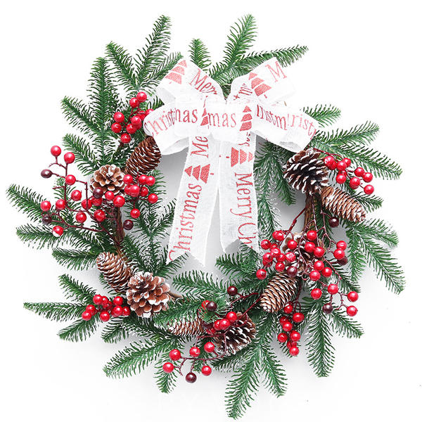 Merry Christmas PVC Christmas Décor Christmas Wreath
