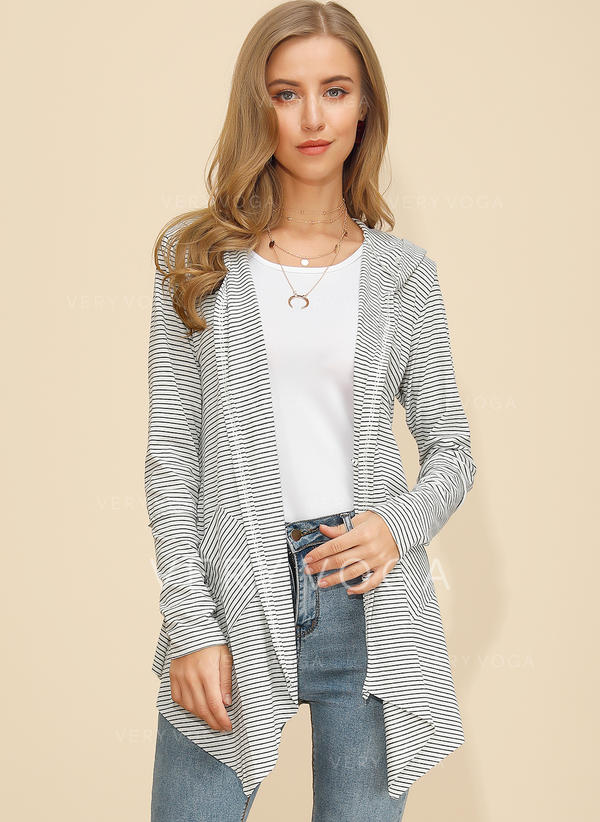 Polyester Long Sleeves Striped