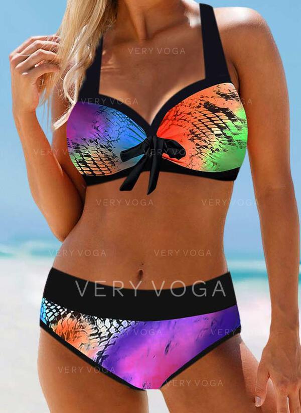 Print Halter Sexy Bohemian Bikinis Swimsuits